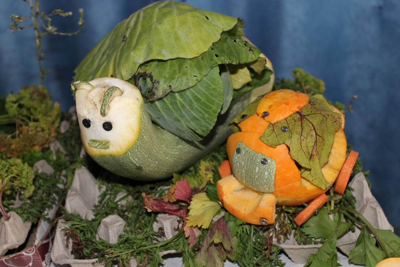 Дюймовочка поделка из овощей